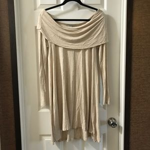 Ezra Cream Off Shoulder Longsleeve Dress M